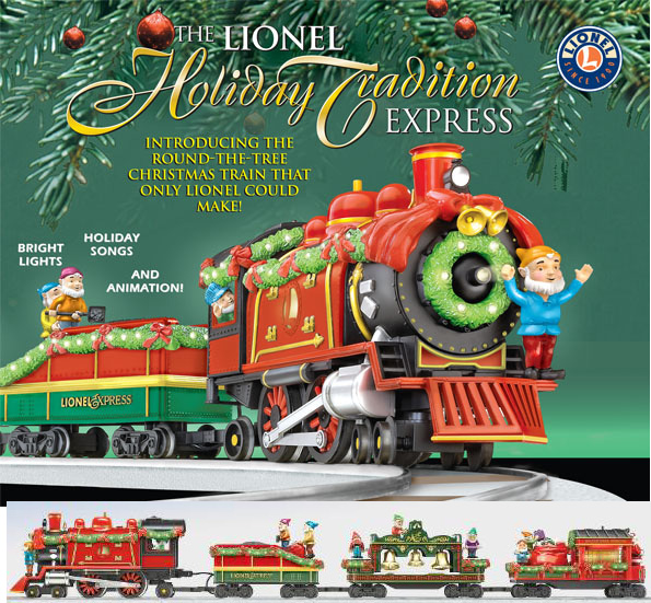 The Fully Animated Lionel Holiday Tradition Express Is Lead By At Locomotive With Bright Christmas Lights True To Life Train Chuffing And Steam Whistles
