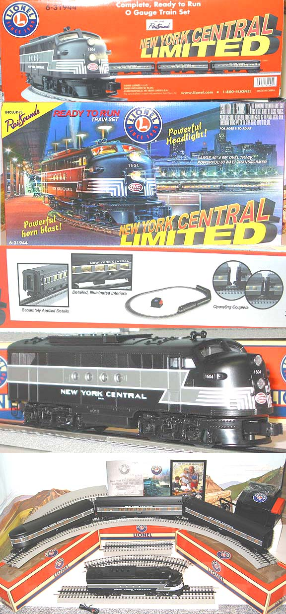 Lionel new york central limited train set