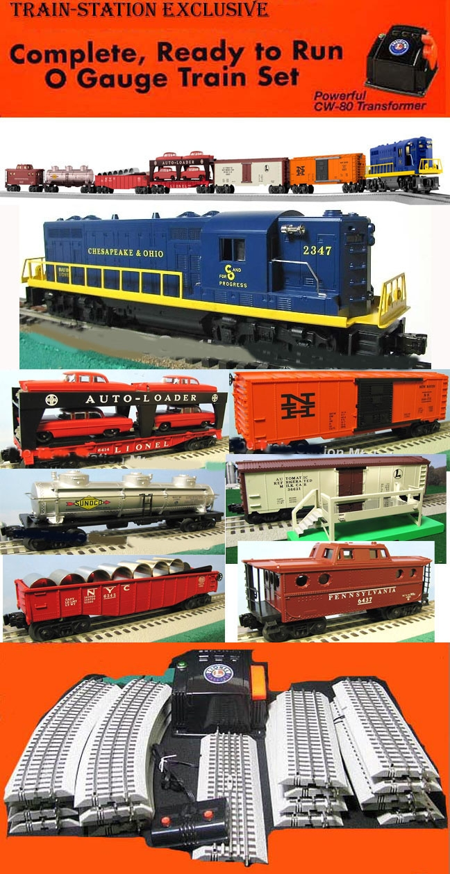 Lionel SET-2012-2 C&O Super Freight Electric Train Set with Track ...